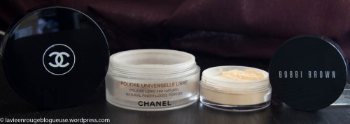 Poudres Chanel et Bobbi Brown